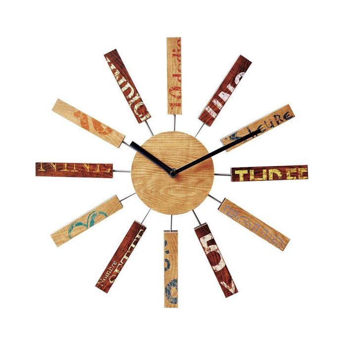 【150円クーポン】 INTERFORM インターフォルム 掛け時計 Bric ブリック NA ナチュラル CL-9587NA <インターフォルム 新生活応援 インテリア 掛時計 かけ時計 壁掛け おしゃれ 北欧>