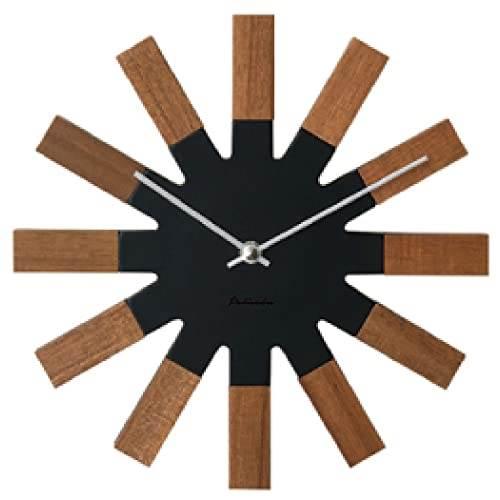 【150円クーポン】 INTERFORM インターフォルム 掛け時計 Wielko ヴィエルコ ブラック CL-2949BK <インターフォルム 新生活応援 掛時計 かけ時計 壁掛け おしゃれ 北欧 音がしない 連続秒針 インテリア 黒>