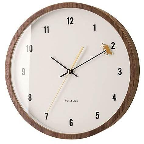 【150円クーポン】 INTERFORM インターフォルム 掛け時計 Micino ミチーノ ブラウン CL-2952BN <インターフォルム 新生活応援 掛時計 かけ時計 壁掛け おしゃれ 北欧 音がしない 連続秒針 インテリア>