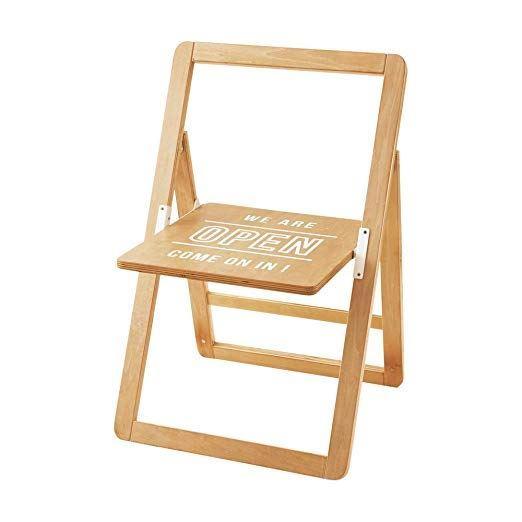 【150円クーポン】 INTERFORM インターフォルム 折りたたみチェア ナチュラル 幅55×奥行51×高さ77cm Sign Chair サインチェア LF-3256 <インターフォルム 新生活応援 インテリア おしゃれ 北欧>
