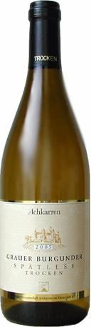 Ackeren Schlossberg grauerbrugunder spatlese grape 2005 (ackeren) Achkarren Schlossberg Grauerburgunder Spaetlese trocken [2005] (Achkarren)