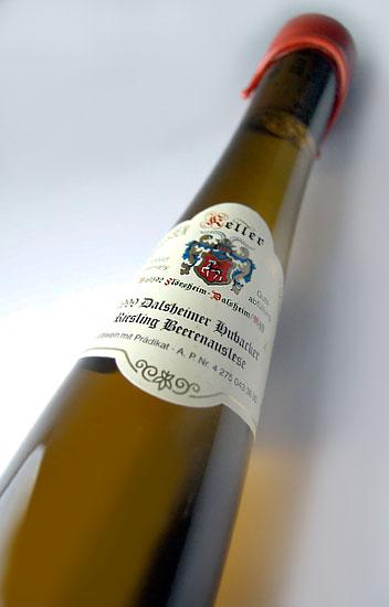 ダルスハイマー フーバッカー Riesling which 375 ml (Keller) Dalsheimer Hubacker Riesling Beerenauslese 375ml (Keller)