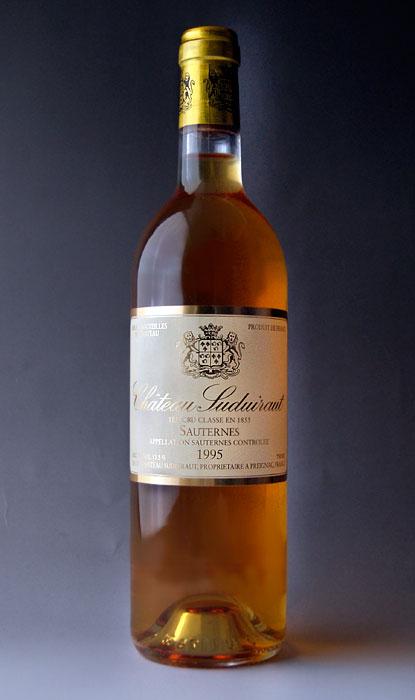 Chateau suduitlaw [1995] AOC Sauternes Premier Grand Cru Classe rating class 1 Chateau Suduiraut [1995] AOC Sauternes, 1er Grand Cru Classe