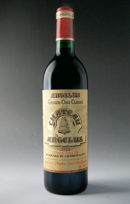 シャトー・アンジェリュス [1993] サンテミリオン・プルミエ・グラン・クリュ・クラッセ・第1特別級Chateau Angelus [1993] AOC Saint Emilion 1er Grand Cru Classe 【赤 ワイン】