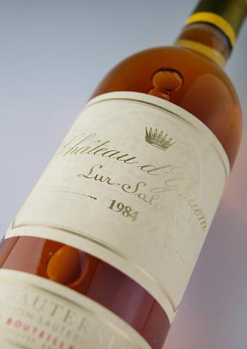 Sauternes Chateau d'yquem [1984], special first class rating Chateau d ' Yquem [1984] Premiers Crus Superieur