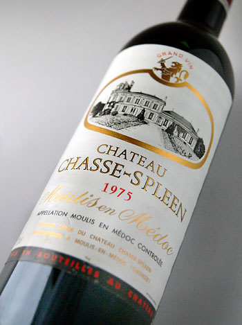 Chateau Shas spring [1975] Chateau Chasse Spleen [1975]