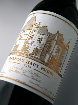 [1975] Château Haut Brion Premier Grand Cru Classe, rating the first class graves Chateau Haut Brion [1975] 1 er Grand Cru Classe du Graves AOC Pessac-Leognan