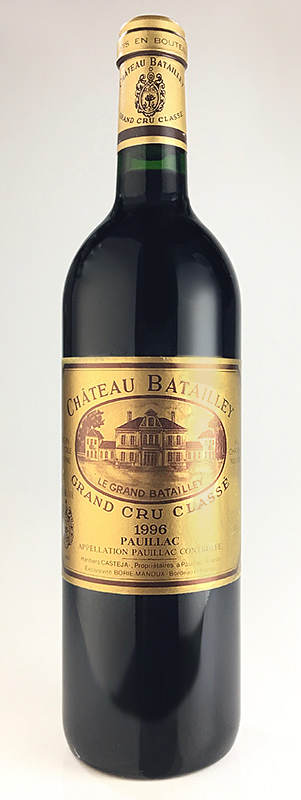 The fifth grade chateau バタイエ[1996]Medoc rating AOC ポイヤック Chateau Batailley [1996]