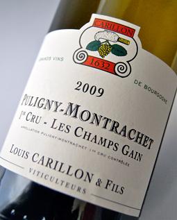 Puligny-Montrachet Premier-Cru Les-musician, cancer [2009] (Domaine Louis Carillon) Puligny Montrachet 1er Les Champs Gains [2009] (Domaine Louis Carillon)