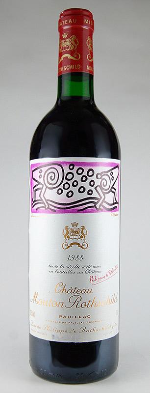 シャトー・ムートン・ロートシルト [1988] Chateau Mouton Rothschild [1988] 【赤ワイン フランス ボルドー】