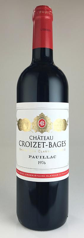 【即納&大特価】 シャトー・クロワゼ・バージュ [1976] AOCポイヤック・メドック格付け第5級 Chateau Croizet Bages [1976] AOC Pauillac 【赤 ワイン】, フジグン 43349985