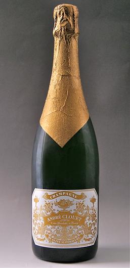 """UJ Yu di de-Blanc de noir (André クルエ) (Anne Jules de 1911) straw wrapped """"1911"""" Un Jour de Champagne Grand Cru Classe (ANDRE CLOUET)"""