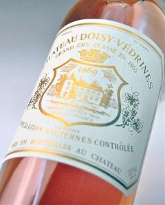 Chateau Dowd Vedrine [1989] AOC sauterne Grand-Cru and Grand cru Classe, Classe rating no. 2 luxury Chateau Doisy Vedrines [1989] AOC Sauternes