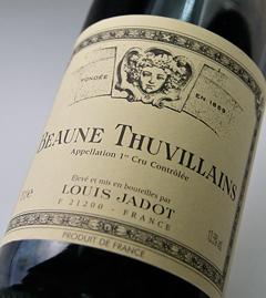 Beaune 1er Cru tuvieran [1997] Louis jade Beaune1er Cru Thuvillains [1997] (Louis Jadot)