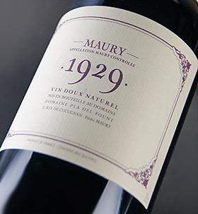 Morley [1929] ( Pura del Forum ) treasured old Maury [1929] (Domaine Pla Del Fount)