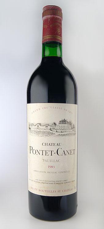 シャトー・ポンテ・カネ [1983] AOCポイヤック メドック格付第5級 Chateau Pontet Canet [1983] AOC Pauillac 【赤 ワイン】