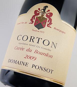 Colton cuvee du Bourdon (Domaine pointer) Corton Cuvee de Bourdon (Domaine PONSOT)
