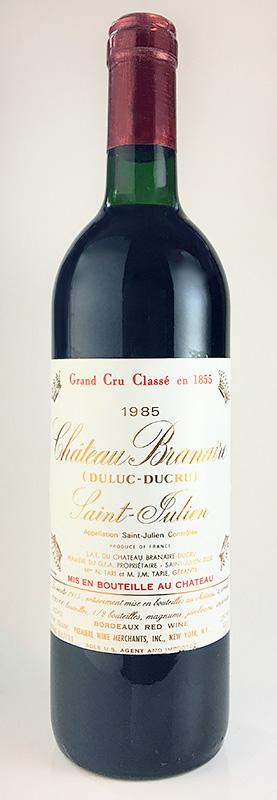 シャトー・ブラネール・デュクリュ [1985] メドック格付第4級・AOCサン・ジュリアン Chateau Branaire Ducru [1985] AOC Saint Julien 【赤 ワイン】