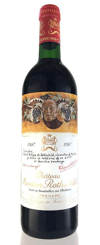 シャトー・ムートン・ロートシルト [1987] Chateau Mouton Rothschild [1987] 【赤 ワイン】【フランス】【ボルドー】