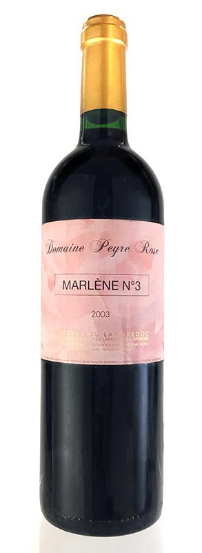 キュヴェ ヌメロ・トロワ [2006] (ドメーヌ・ペイル・ローズ) Cuvee Marlene N°3(NO.3) [2006] (Domaine Peyre Rose) 【赤 ワイン】