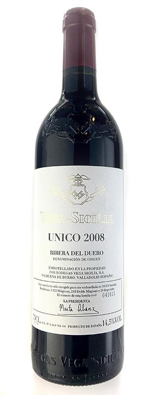 ウニコ [2008] (ヴェガ・シシリア) Unico [2008] (Vega Sicilia) 【赤 ワイン】【スペイン】