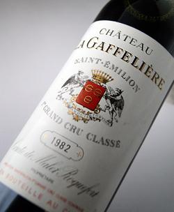 성・라・가후리에이르[1982]산테미리온・그란・크류・쿠랏세 B・ 제1 특별급 Chateau La Gaffeliere [1982] AOC Saint Emilion ler Grand Cru Classe