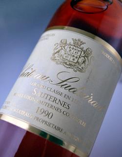 Chateau suduitlaw [1990] AOC Sauternes Premier Grand Cru Classe rating class 1 Chateau Suduiraut [1990] AOC Sauternes, 1er Grand Cru Classe
