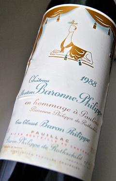 성・무톤・바론누・필립[1984]포이약크・메독・그란・크류・쿠랏세격부 제 5급 Chateau Mouton Baronne Philippe [1984]
