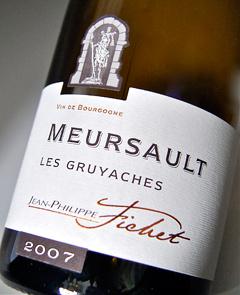 Meursault Les glyyash [2007] (Jean-Philippe Fichet) Meursault Les Gruyaches [2007] (Jean Philip Fichet)