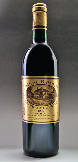Chateau-Bertie MEDOC rating no. 5 quality AOC Pauillac Chateau Batailley
