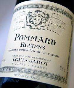 Pommard 1er Cru リジュアン Louis jade Pommard 1er Cru Rugiens (Louis Jadot)
