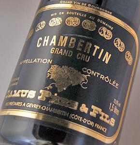 Chambertin Grand Cru [1997] (Domaine Camus Pere et Fils) 1500 ml Chambertin Grand Cru [1997] (Pere et Fils, Domaine Camus) 1500 ml Magnum size