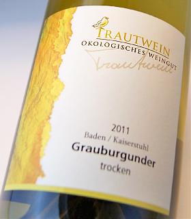 Trout wines グラウアーブルグンダー Q. b. A. grape (trout wine) Trautwein Grauerburgunder Q. b. A. trocken (Trautwein)
