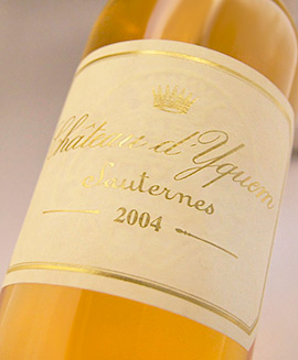 Chateau D Kem[2004]Sauternes, particularly primary rating Chateau d'Yquem [2004] Premiers Crus Superieur