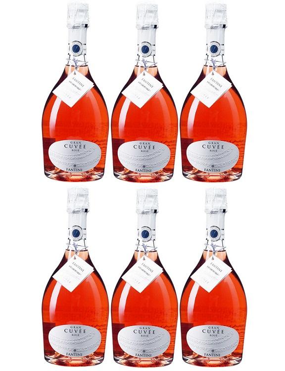 [6本セット] ファンティーニ・スプマンテ・グラン・キュヴェ・ロゼ [NV] (ファルネーゼ・ヴィニ) Fantini Spumante Gran Cuvee Rose [NV] (Farnese Vini) 【ロゼ スパークリング イタリア アブルッツォ】