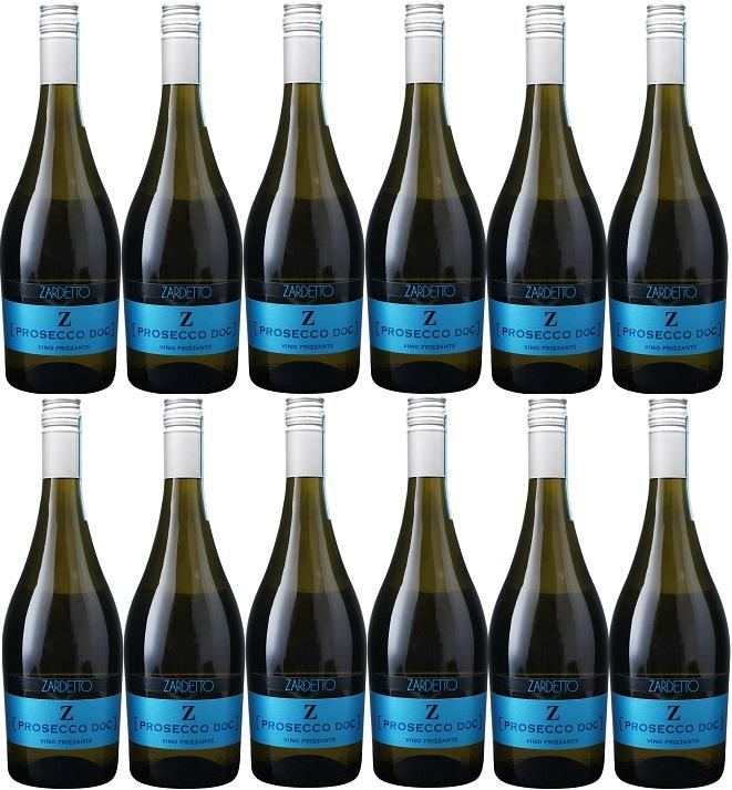 [12本セット] プロセッコ フリッツァンテ [NV] (ザルデット) Prosecco Frizzante [NV] (Zardetto) 白 スパークリングワイン イタリア ヴェネト