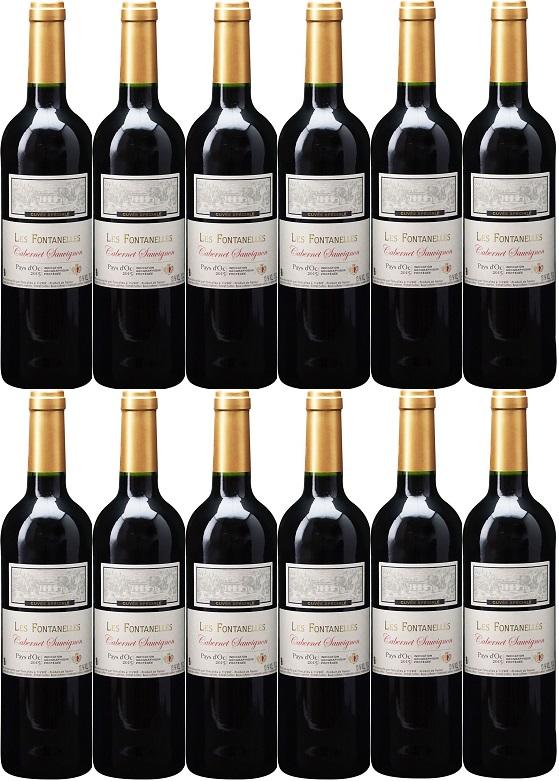 [12本セット] ペイ・ドック・カベルネ・ソーヴィニヨン レ・フォンタネル [2018] (フォンカリユ) Pays d'Oc Cabernet Sauvignon Les Fontanelle [2018] (Foncalieu) 【赤ワイン フランス ラングドック・ルション】