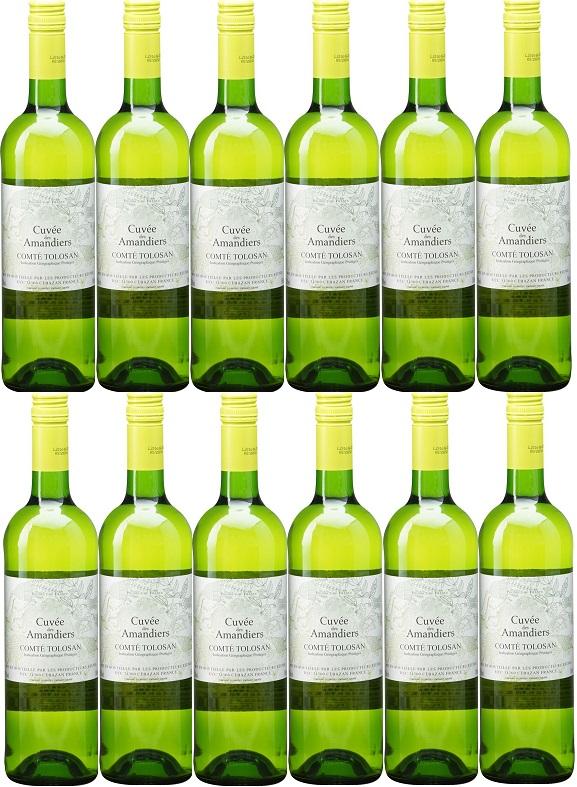 [12本セット] イ・ジェ・ペ・コンテ・トロザン・ブラン・キュヴェ・デ・アマンディエ [現行ヴィンテージ] (プロデュクトール・レウニ) I.G.P. Comte Tolosan Blanc Cuvee des Amandiers [現行ヴィンテージ] (Producteurs Reunis) 【白 ワイン フランス 南西地方】