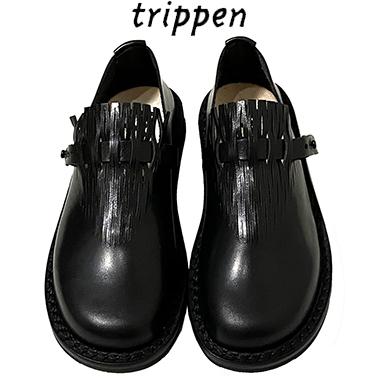 Trippenトリッペン【trippen 正規販売店】ストラップシューズ カラー:BLK-BK (ブラック)