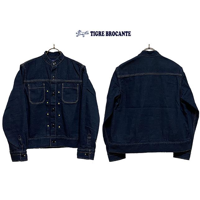 TIGRE BROCANTE ティグルブロカンテセルビッチ11ozDemimハ―タックシャツジャケットカラー:Indigoサイズ:Ladies F (one size)