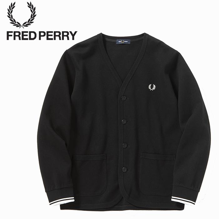FREDPERRY[フレッドペリー] - Pique Cardigan - 鹿の子ダンボールカットソーカーディガン【日本代理店正規品】