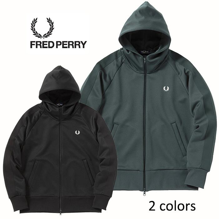 FREDPERRY[フレッドペリー] - Tricot Fooded Parka - フルジップハイネックスウェットフーディー(ジャージパーカー)【日本代理店正規品】