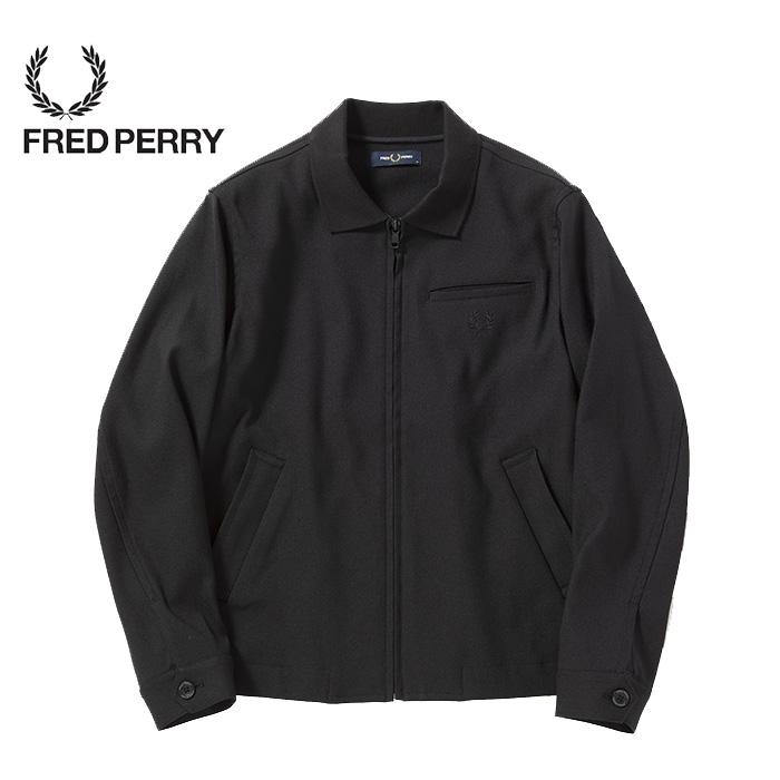 SALE・30%OFF【セール】FREDPERRY[フレッドペリー] - Rib Collar Jacket - ストレッチツイルジャケット本品はポイント+1倍です! 【日本代理店正規品】