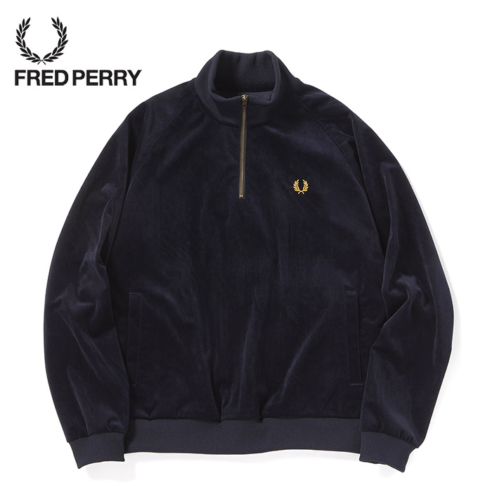 FREDPERRY[フレッドペリー] - Velour Track Jacket - ベロアジャージトラックジャケット【日本代理店正規品】