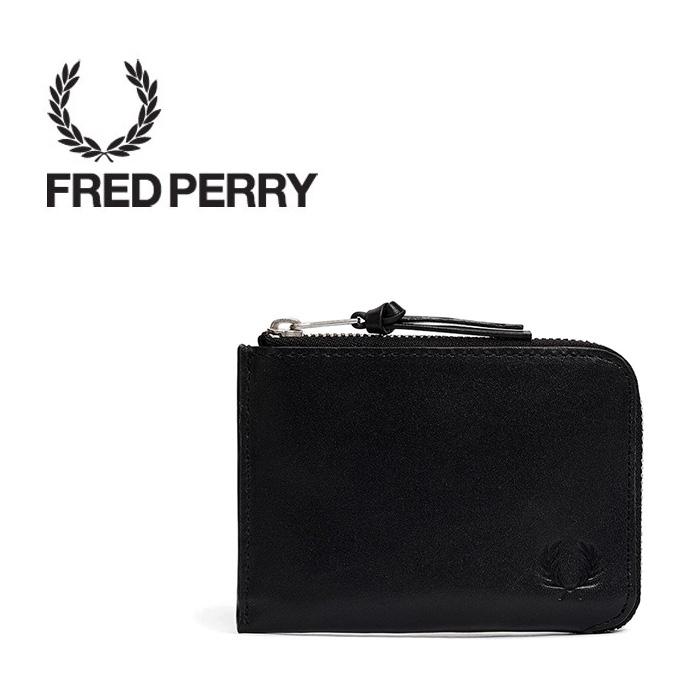 FREDPERRY[フレッドペリー] - Leather Zip Around Wallet - ラウンドジップレザーウォレットカラー:ブラック サイズ:フリー※日本国内 送料・代引手数料無料※【日本代理店正規品】