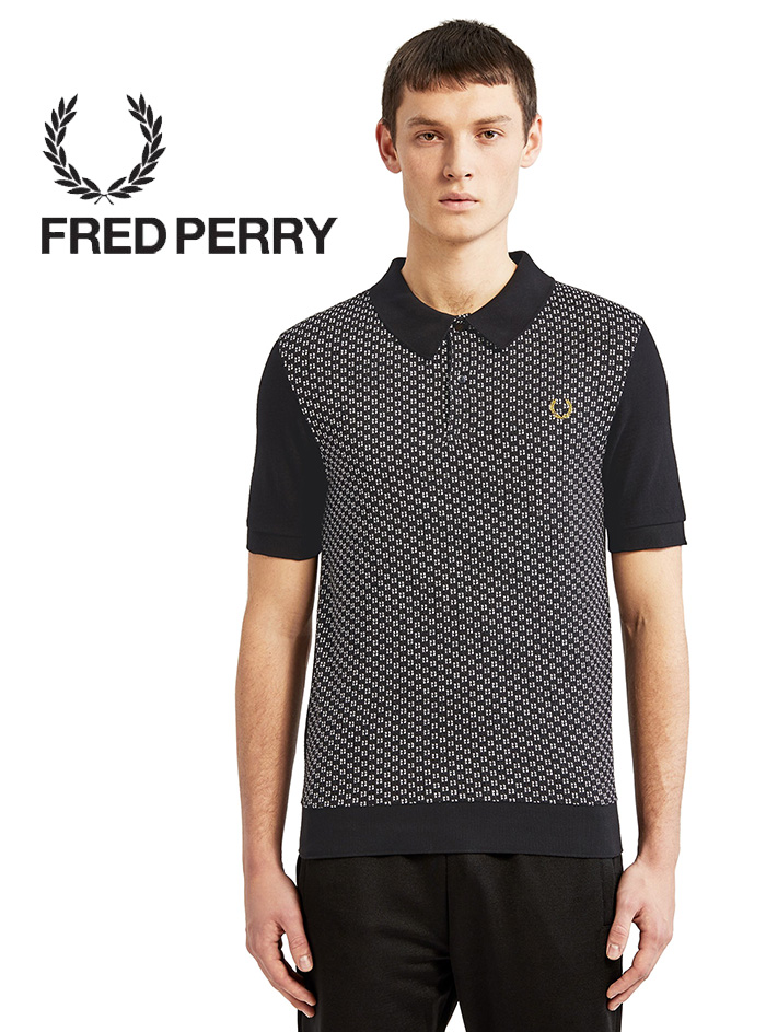 918941ab5 I adopted a jacquard square design to Fred Perry shirt on the front. Using  a cotton picket with delicate knit feel a fitting silhouette