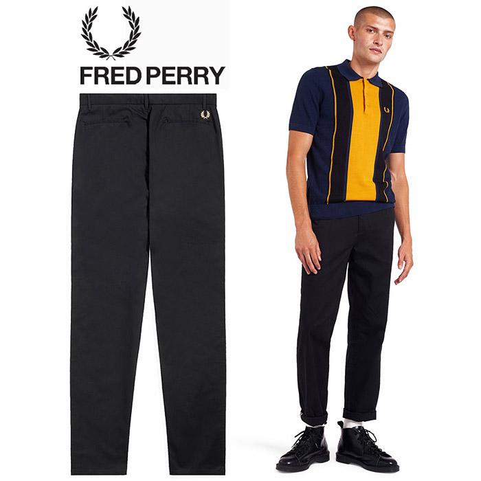 FREDPERRY[フレッドペリー] - CLASSIC TROUSER - ワンポイント刺繍コットンパンツ