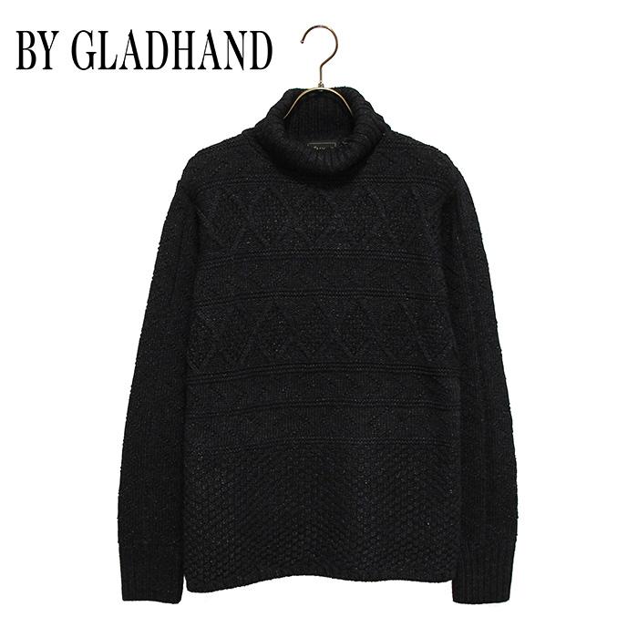 """BY GLADHAND (バイグラッドハンド) - Turtle Neck Cable Sweater""""Islands"""" - 硫化染タートルネックケーブルセーター本品はポイント+1倍です!"""