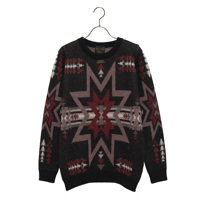 BY GLADHAND (バイグラッドハンド) - Spirits Sweater - オルテガ柄ヂャカードセーター本品はポイント+1倍です!