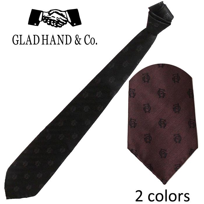 GLADHAND[グラッドハンド]- GH JACQUARD-TIE -ネクタイサイズ:フリー ※日本国内送料・代引手数料無料※